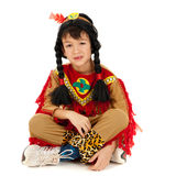 American indian boy in costume Royalty Free Stock Image