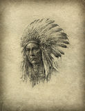 American Indian chief Royalty Free Stock Photos