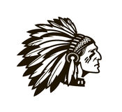 American Indian Chief. Logo or icon. Vector illustration Stock Image