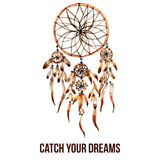 American indian dreamcatcher icon Royalty Free Stock Image