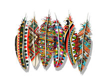 American Indian feathers Stock Images