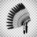 American Indian feathers war bonnet Stock Images
