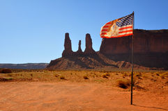 American Indian Flag. An Indian flag in Monument Valley Stock Photos
