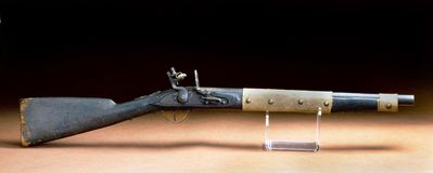 American Indian Flintlock Rifle. Royalty Free Stock Photo
