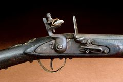 American Indian Flintlock Rifle. Royalty Free Stock Images