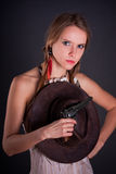 The American Indian girl Stock Photo