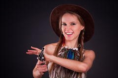 The American Indian girl Royalty Free Stock Photography