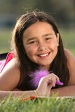American Indian Girl Royalty Free Stock Photography