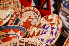 American Indian Handicraft Baskets Stock Image