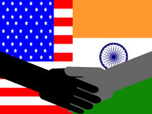 American Indian handshake Stock Photo