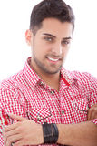American Indian male. Posing in a close up portrait Stock Images