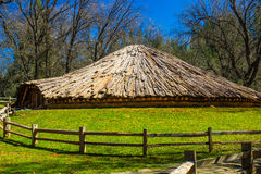 American Indian Roundhouse Royalty Free Stock Photography