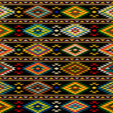 American Indian seamless pattern. Design in colors Stock Image