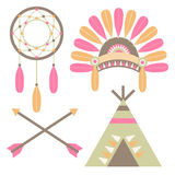American Indian Set Royalty Free Stock Photography