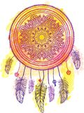 American Indian talisman dreamcatcher. Vector Royalty Free Stock Photography