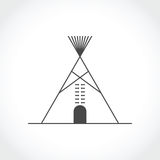 American indian tipi icon Stock Image