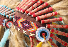 American indian  traditional costume Royalty Free Stock Image