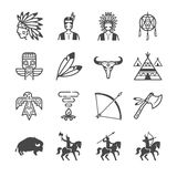 American Indian Tribe Icons Stock Photography