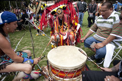 American Indian at UCLA Pow Wow Stock Image