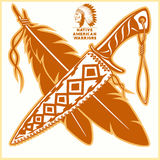 American indian vector logos. Vector illustration on light background Royalty Free Stock Photos