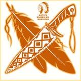 American indian vector logos. Vector illustration on light background vector illustration