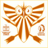 American indian vector logos Royalty Free Stock Image