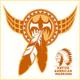 American indian vector logos Royalty Free Stock Photo