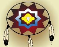 American Indian war shield Stock Image