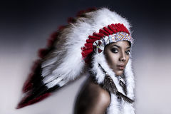 American Indian woman Royalty Free Stock Photos