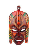 American indian wooden mask isolated Stock Images