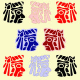 American indians' faces Royalty Free Stock Image