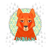American Indians jackal vector illustration Stock Images