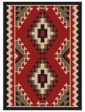 American Indians pattern. American Indians tribal blanket pattern Stock Image
