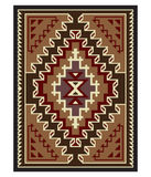 American Indians pattern. American Indians tribal blanket pattern Stock Photos