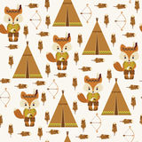 American indians seamless pattern. Stock Image