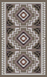 American Indians tribal blanket pattern. Navajo style royalty free illustration