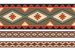 American Indians tribal blanket patterns. Royalty Free Stock Photography