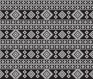 American Indians tribal texture. Seamless black and white pattern Royalty Free Stock Photo