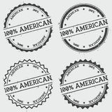 100% American insignia stamp isolated on white. Stock Photography