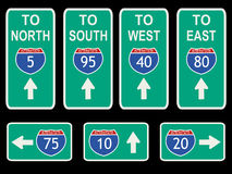 American Interstate signs Stock Images