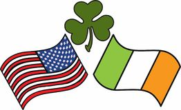 American Irish Flag Royalty Free Stock Photo