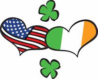 American Irish Hearts Royalty Free Stock Photo