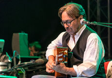 American jazz fusion and Latin jazz guitarist Al Di Meola performing live at Nisville Jazz Festival, August 11. 2016 Royalty Free Stock Images