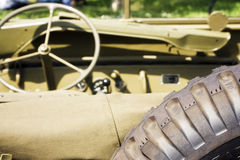 American jeep from behind royalty free stock photography