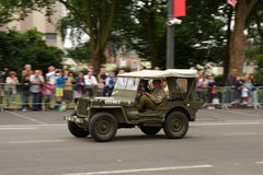 American jeep of the Second World War parading for the national day of 14 July ,France Stock Photos