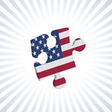 American jigsaw Royalty Free Stock Photo