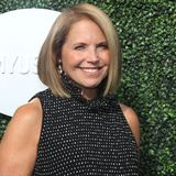 American journalist and author Katie Couric on the blue carpet before US Open 2017 opening night ceremony Royalty Free Stock Image