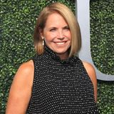 American journalist and author Katie Couric on the blue carpet before US Open 2017 opening night ceremony Royalty Free Stock Images