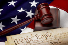 American justice still life Stock Photography