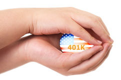 American 401K financial concept Stock Photo